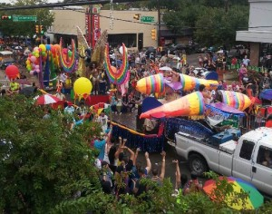 calientefloat 300x236 It was one of the wettest Pride parades in Dallas that I can think of.
