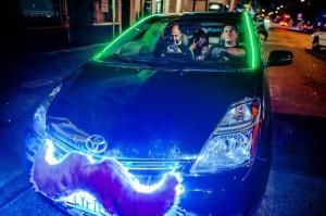 lyft mustache car