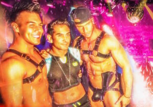 purple party ignite station4 shirtless guys